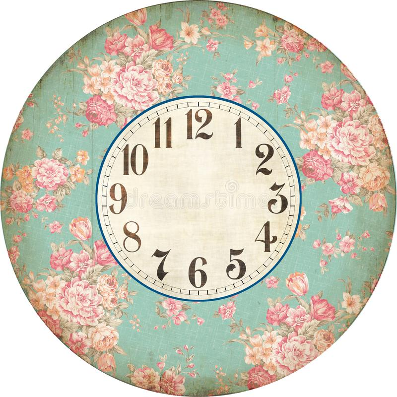 ROSE CLOCK ANTIQUE FRANCE stock images