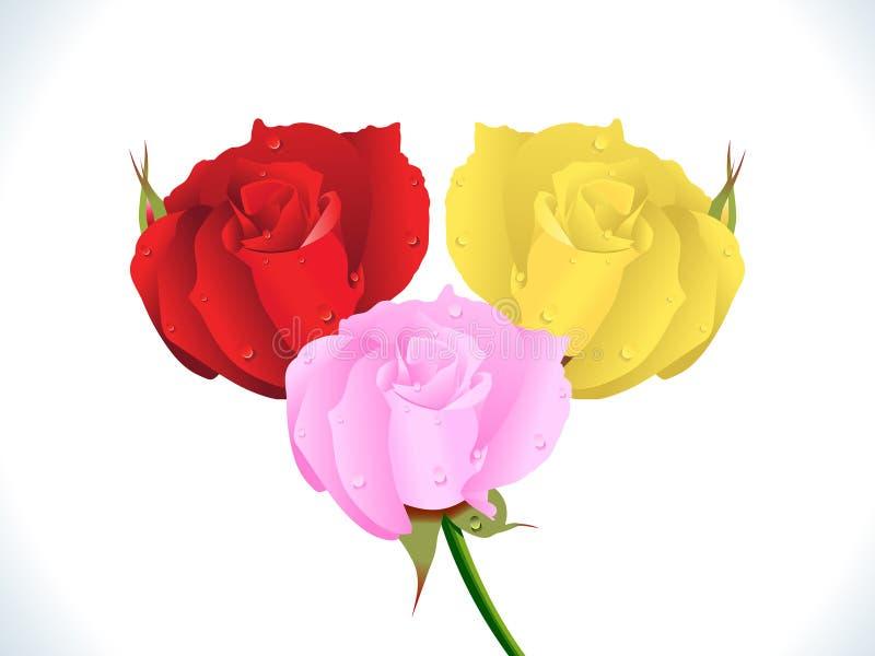 Rose colorée détaillée artistique abstraite illustration libre de droits