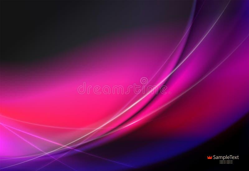 Rose, conception abstraite sensible rouge avec les rayures débordantes illustration libre de droits