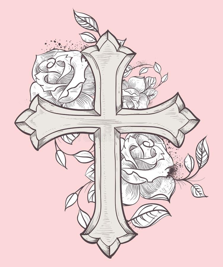 Rose Croix lizenzfreie abbildung
