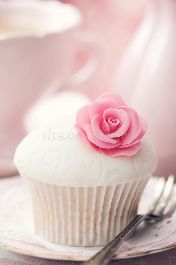 Download Rose cupcake stock image. Image of fairy, fork, afternoon - 14450737