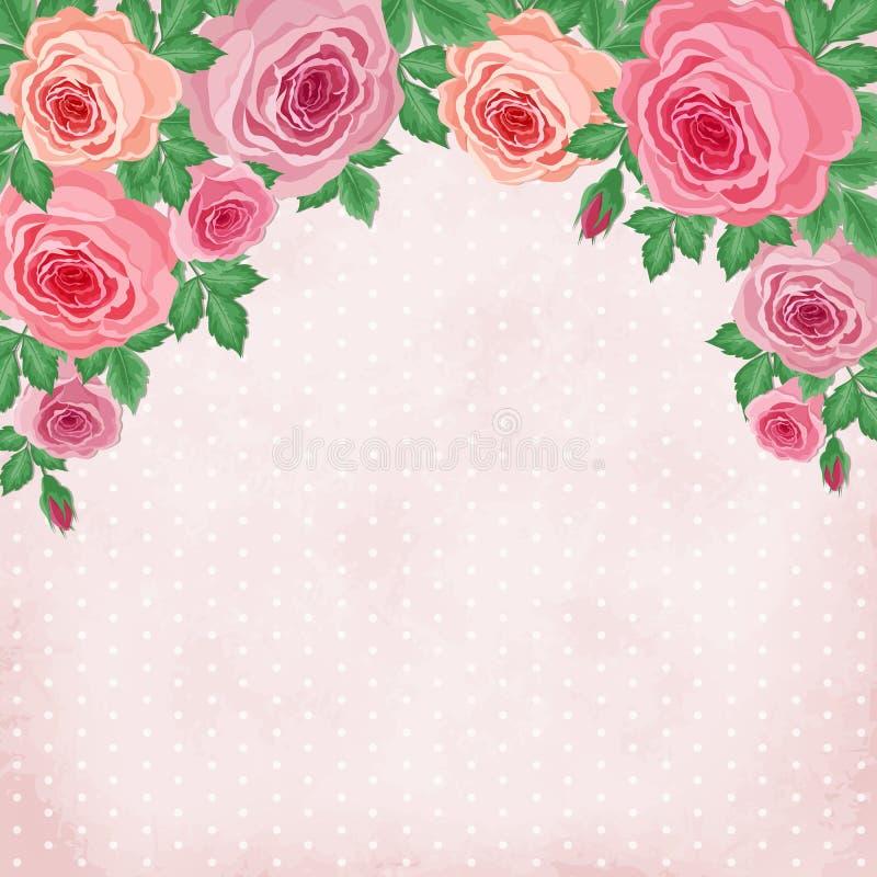 Rose d'annata royalty illustrazione gratis