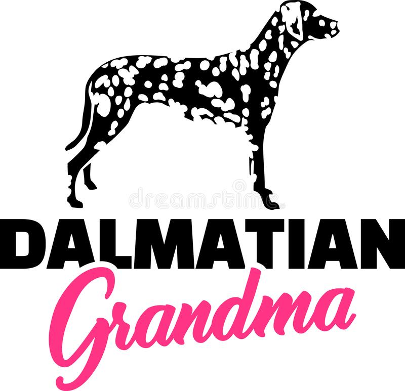 Rose dalmatien de grand-maman illustration de vecteur