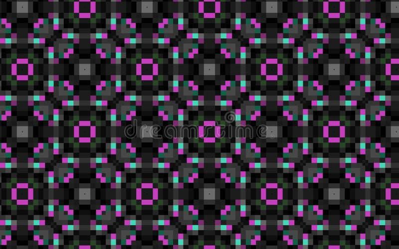 Rose dans le modèle de répétition géométrique noir illustration stock