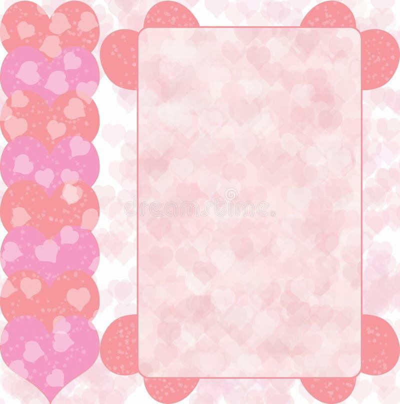 rose de coeur de conception photo stock