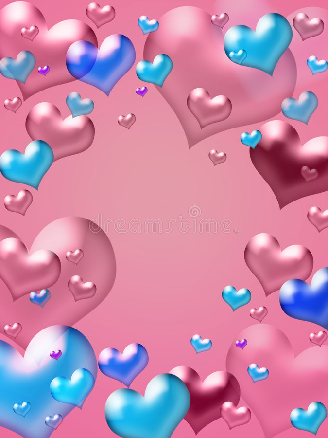 rose de coeurs de fond illustration stock