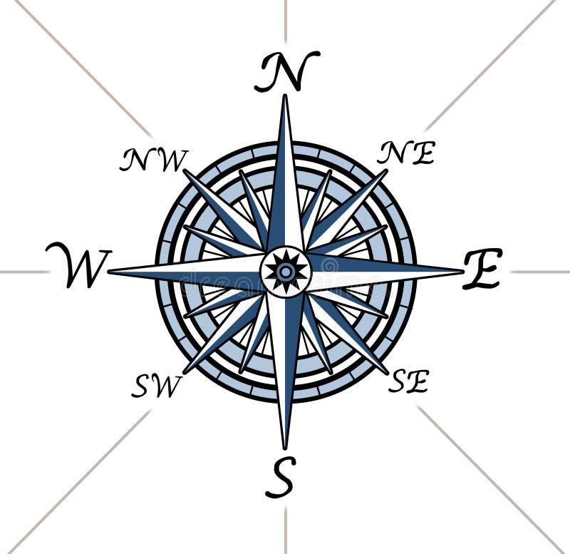 Rose de compas sur le fond blanc illustration libre de droits