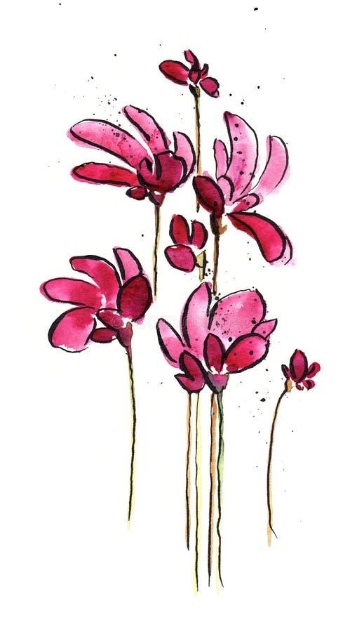rose de fleurs illustration libre de droits