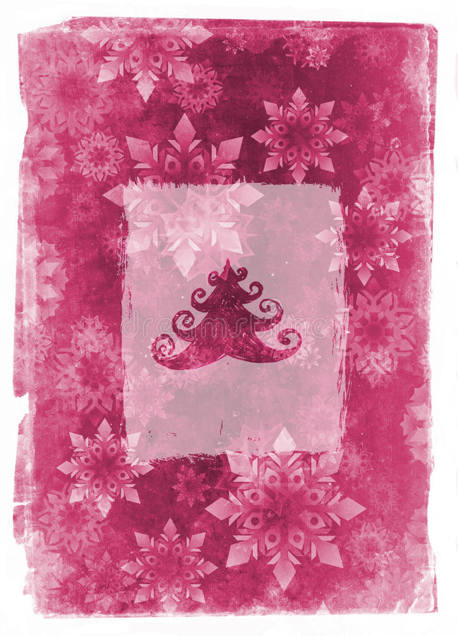 rose de grunge de Noël de carte illustration stock