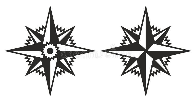 Rose de la imagen del vector de los vientos libre illustration