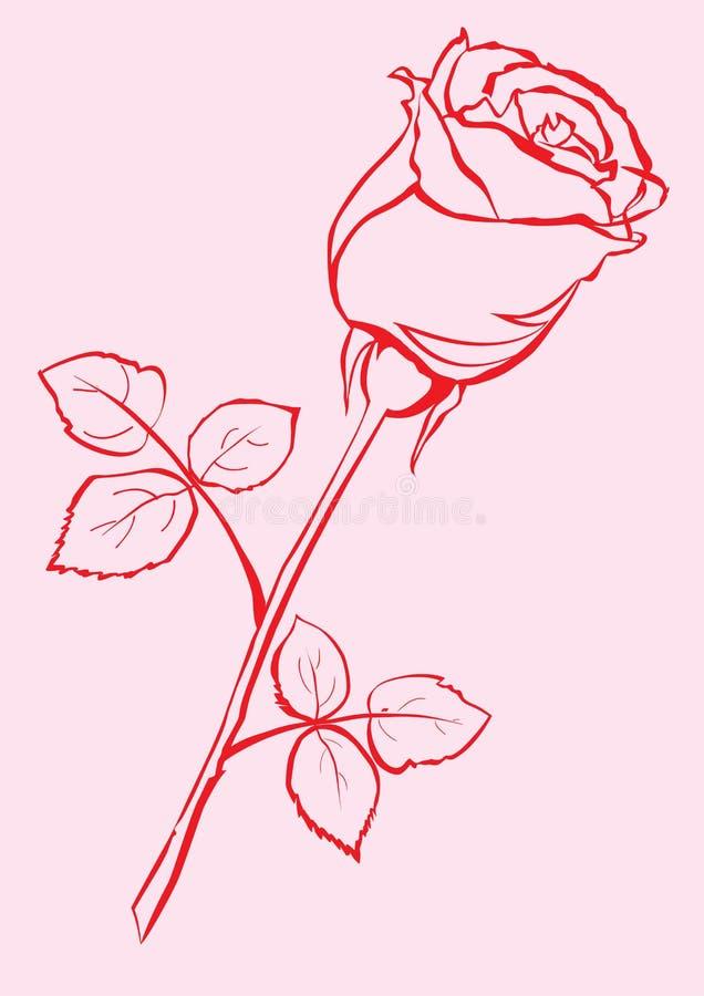 rose de main esquissée illustration de vecteur