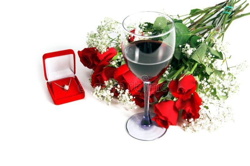 Rose del biglietto di S. Valentino fotografie stock libere da diritti