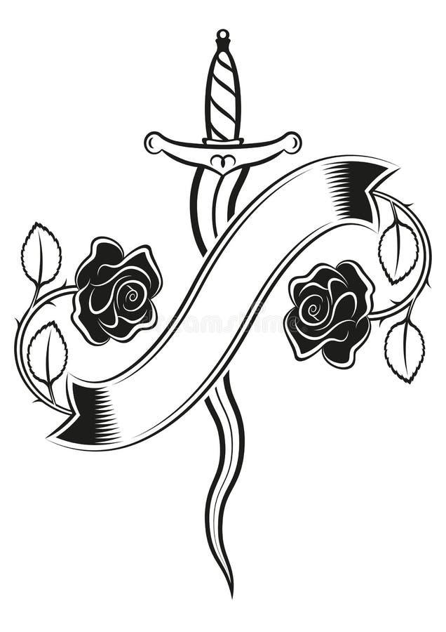 Rose Del Pugnale Illustrazione Vettoriale