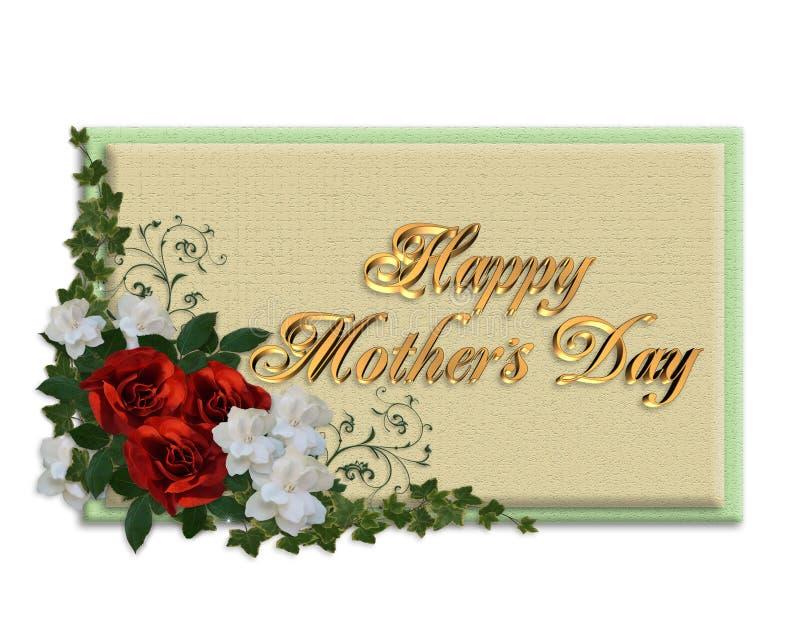 Rose della scheda di giorno di madri illustrazione vettoriale