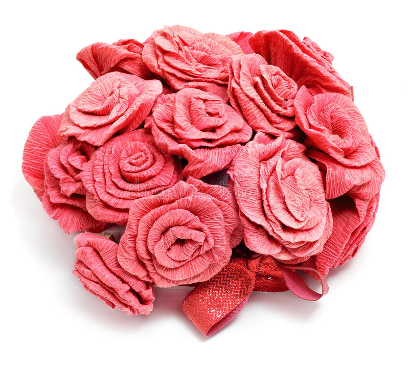 Rose di carta immagini stock
