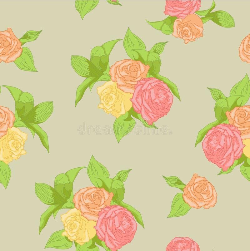 Rose di estate illustrazione vettoriale