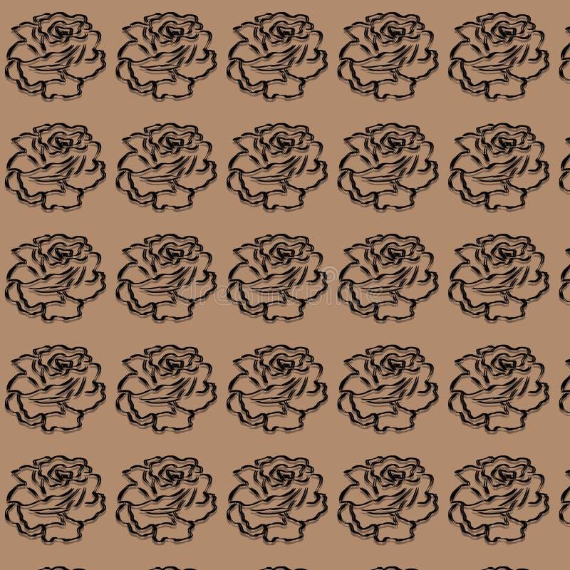 Rose Digital Paper Pack, rosas negras, boda, Scrapbooking, rosas, rosas del vintage ilustración del vector
