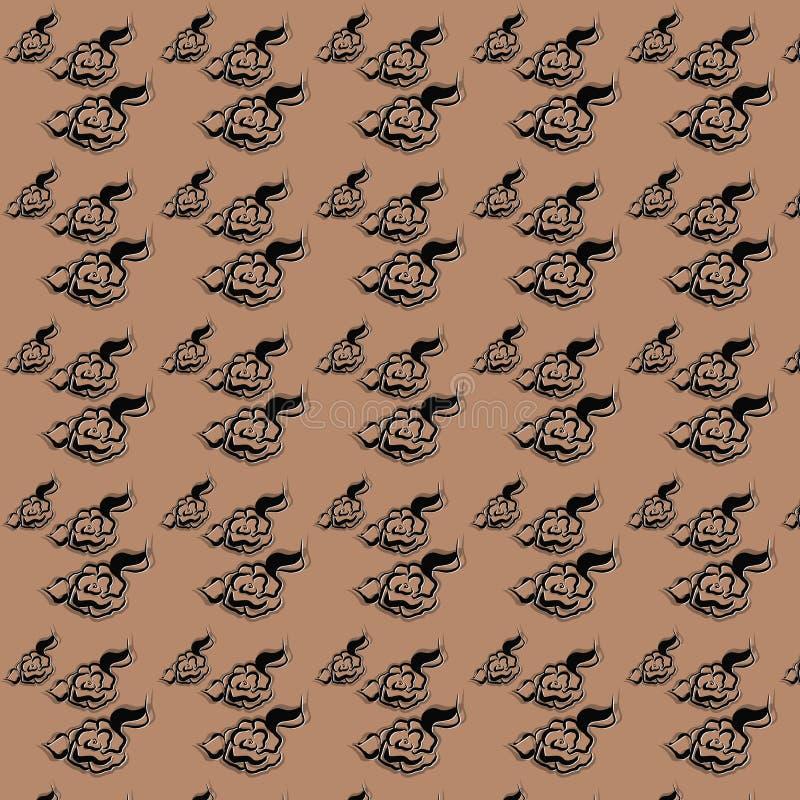 Rose Digital Paper Pack, Zwarte Rozen, Huwelijk, Scrapbooking, Rozen, Uitstekende Rozen stock illustratie