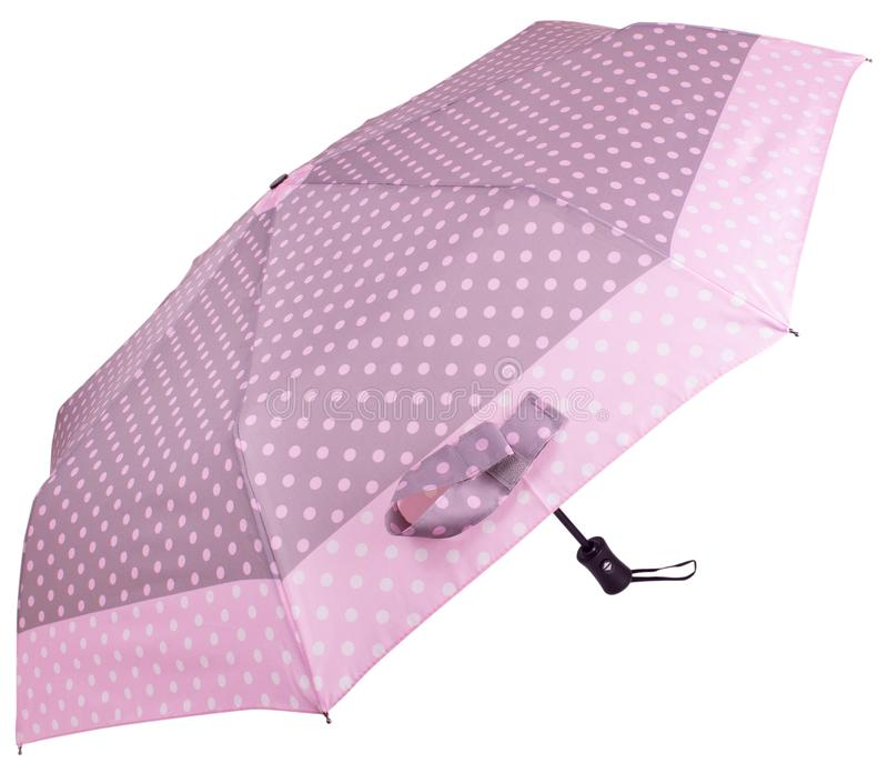 Rose Dotted umbrella. Side view royalty free stock images