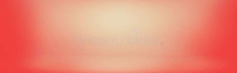 rose doux de gradient de velours et bannière de mur orange, studio vide r images libres de droits