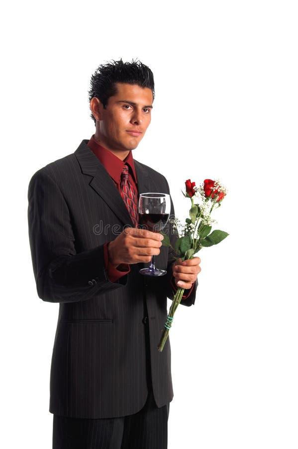 Rose e vino immagini stock