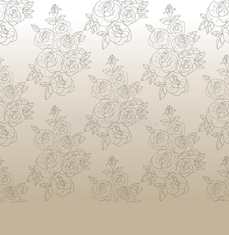 Rose Elegant Vintage Seamless Pattern Stock Vector
