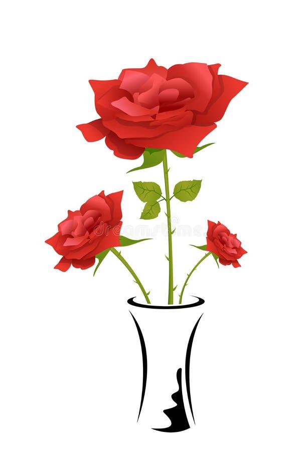 Rose en crisol libre illustration
