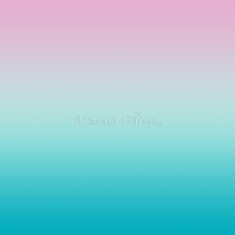 Rose en pastel abstrait Aqua Blue Gradient Background illustration libre de droits
