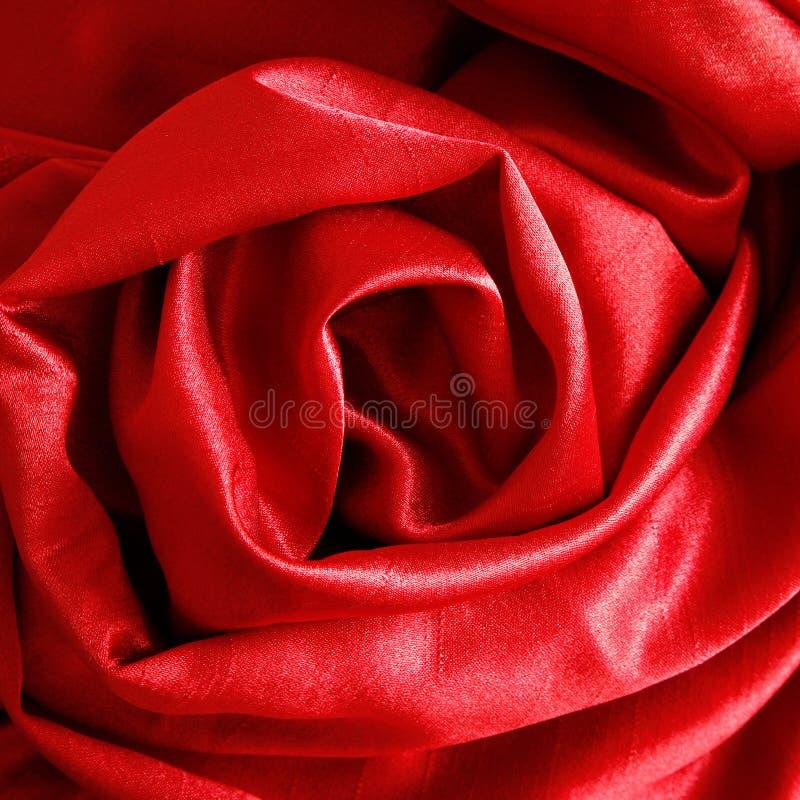 Rose en soie photographie stock