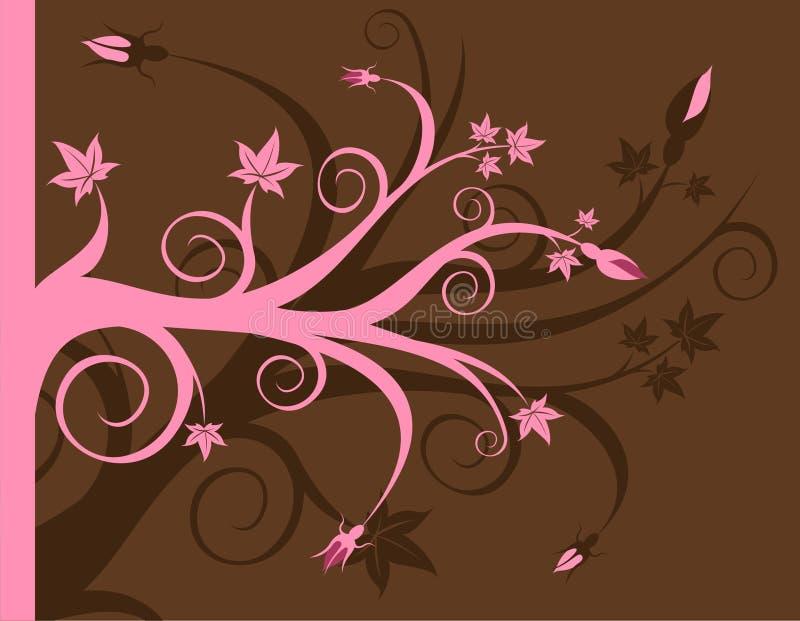 Rose et Brown floraux illustration libre de droits