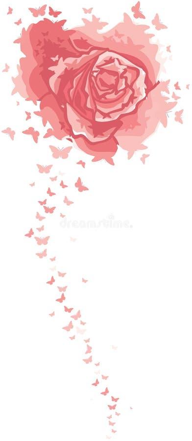 Rose et butterflys illustration libre de droits