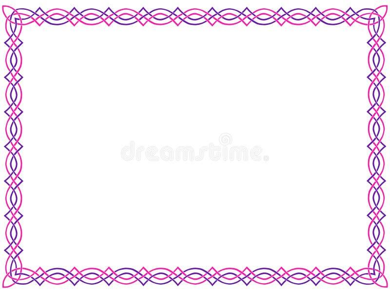 Rose et cadre celtique pourpré illustration stock