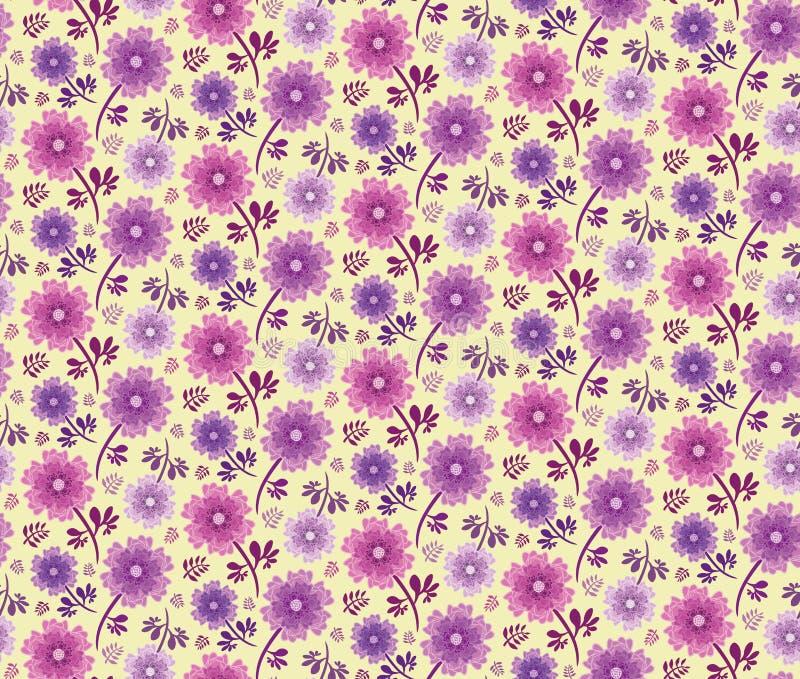 Rose et pourpre d'espoir de ressort floraux illustration stock