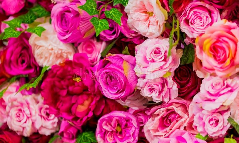 Rose et roses pourpres pour le jour de valentines romantique photographie stock libre de droits