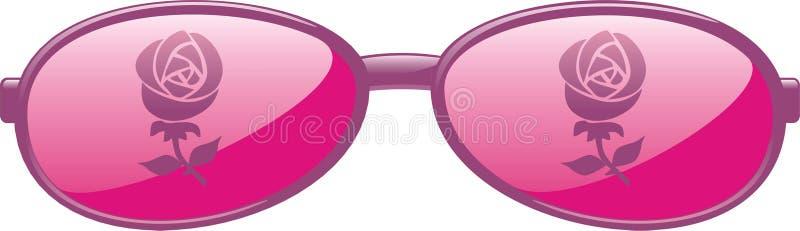 Rose färbte Gläser stock abbildung