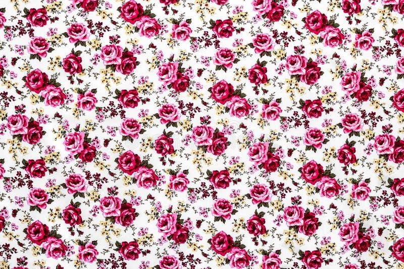 Rose Fabric, fondo de Rose Fabric, fragmento de retro colorido foto de archivo libre de regalías