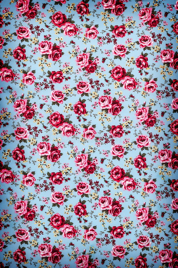 Rose Fabric, Rose Fabric-Hintergrund, Fragment von buntem Retro- stockfoto
