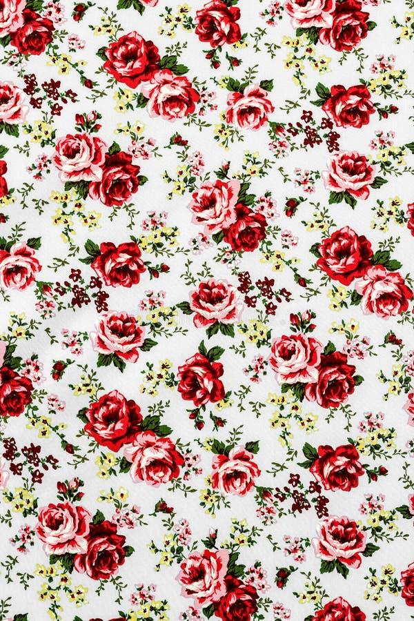 Rose Fabric, Rose Fabric-Hintergrund, Fragment von buntem Retro- stockfotografie
