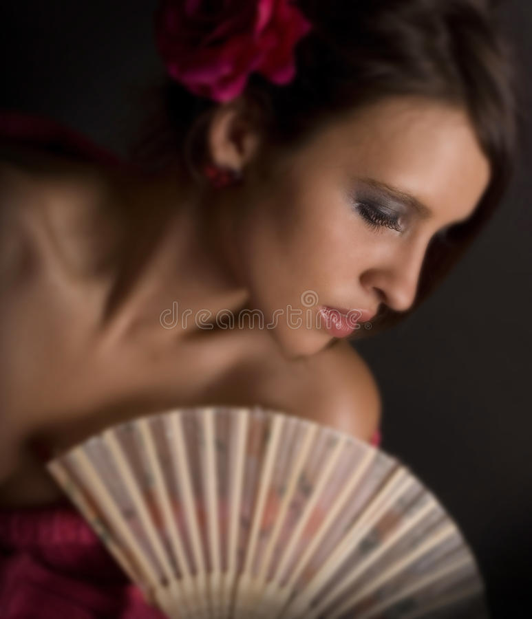 Rose & Fan 3 royalty free stock images