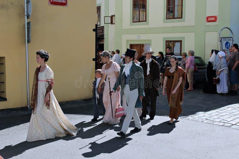Rose Festival Cinco-petalada em Cesky Krumlov em República Checa imagem de stock royalty free