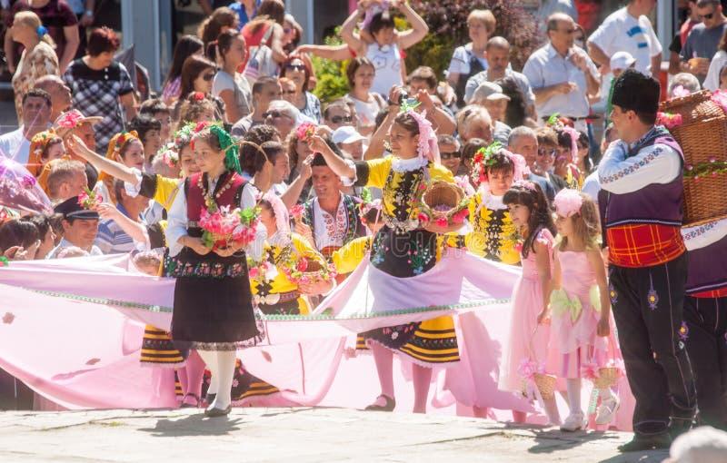 Rose Festival in Karlovo bulgarije stock foto's