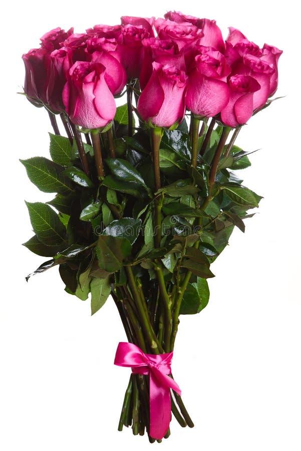 Rose fleurit le bouquet d'isolement images libres de droits