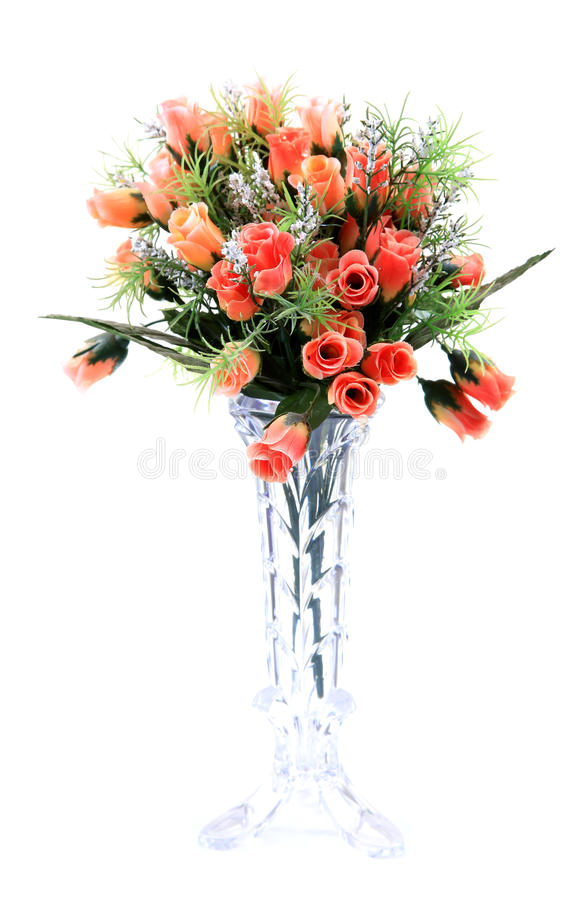 Rose flower bouquet. Isolated on white background royalty free stock images