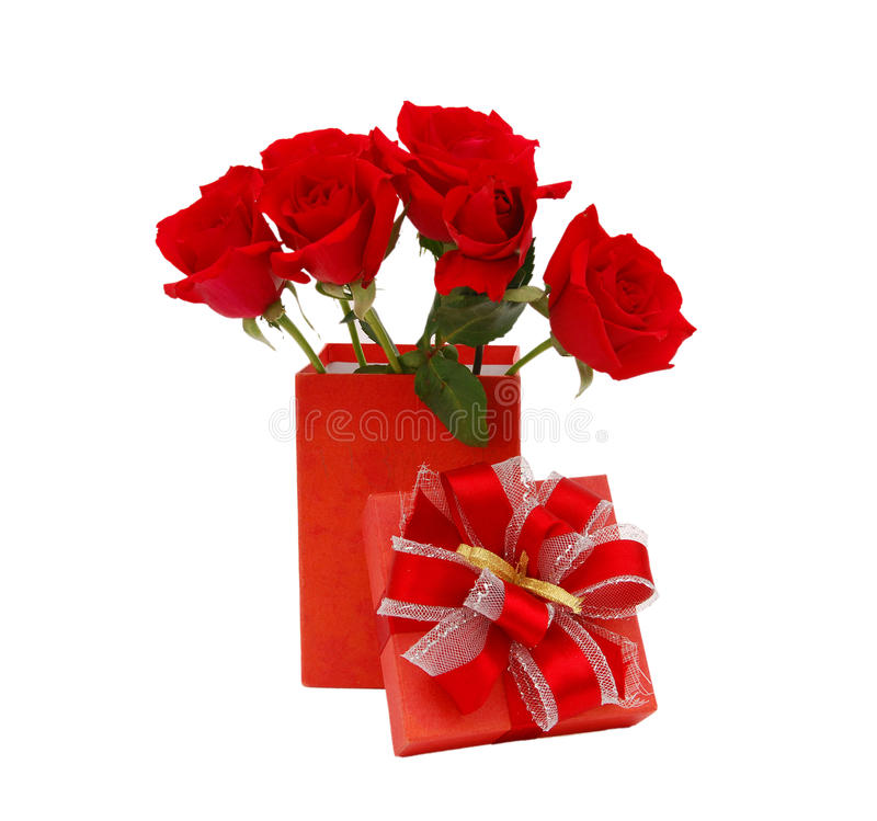 Rose flower gift birthday. Holiday background royalty free stock images