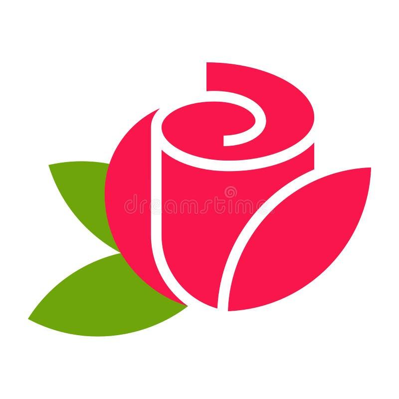 Rose - flower icon royalty free illustration