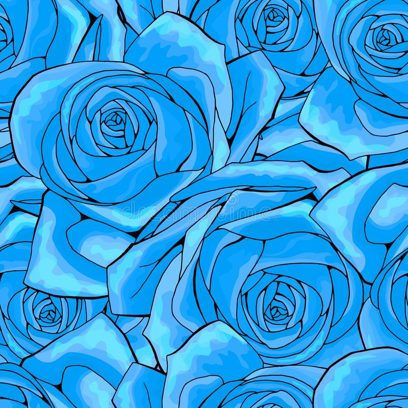 Rose flower seamless pattern background texture. suitable for printing textile vector illustration