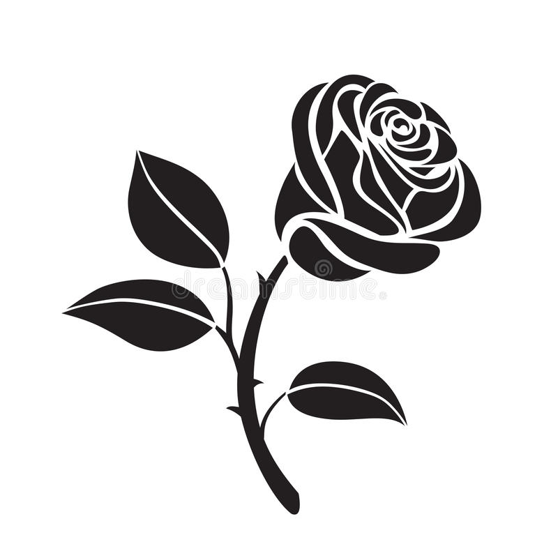 Rose flower vector icon stock illustration