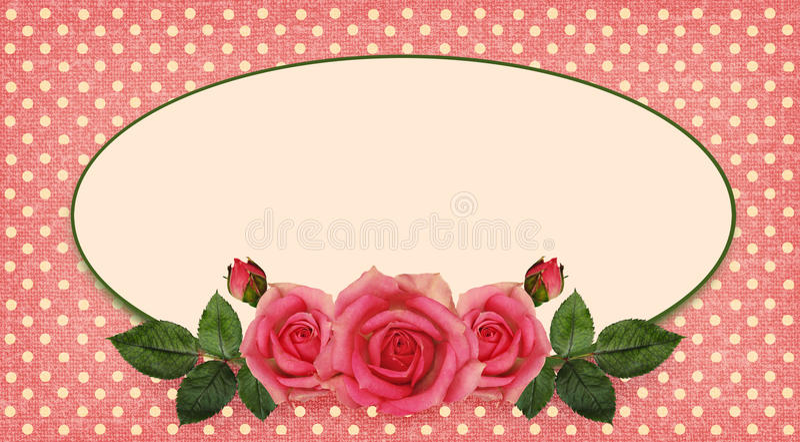 Rose Flowers Arrangement And Frame Stock Illustration - Illustration ...