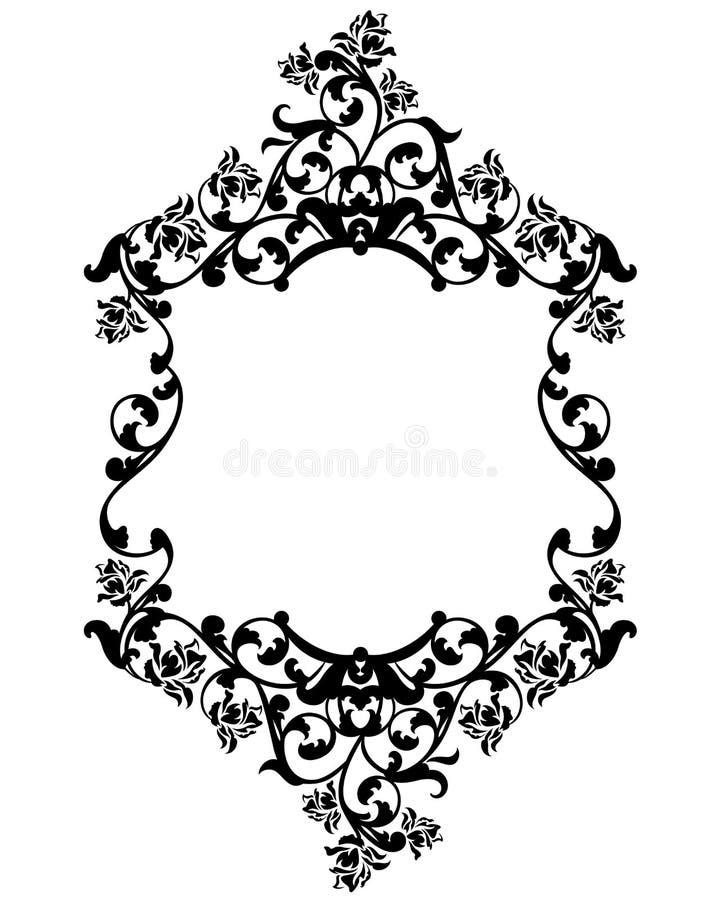 black vintage frame design. Download Rose Flowers Black And White Vintage Frame Design Stock Vector - Illustration Of Ornate,