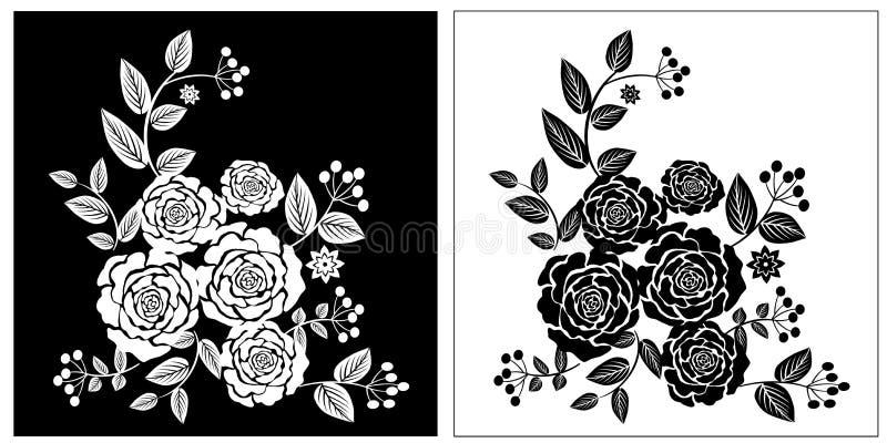 Rose Flowers blanca negra libre illustration